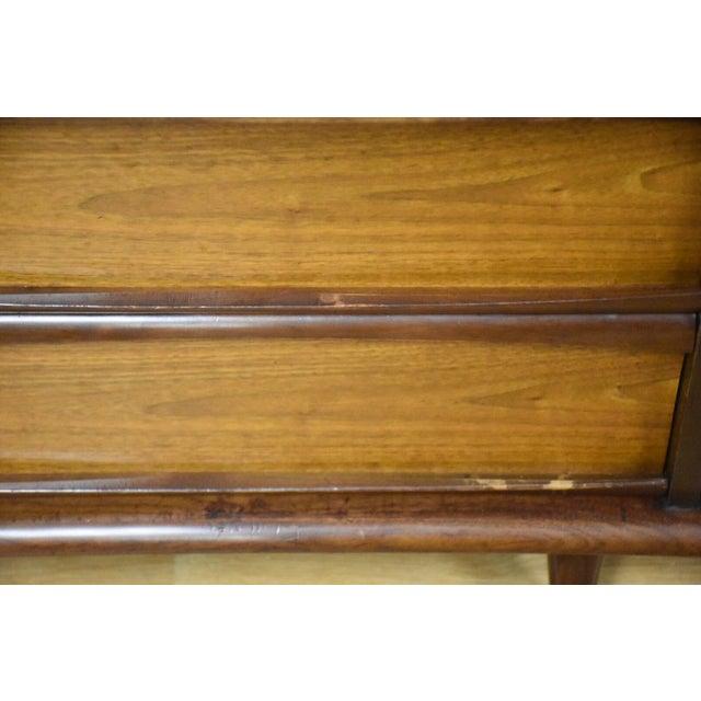 Image of Mid-Century Walnut Nightstands - A Pair