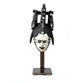 Custom Bronze Pedestal Mounted African Mask