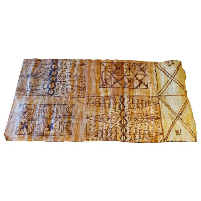 1970s Tapa Bark Cloth - Image 1 of 9