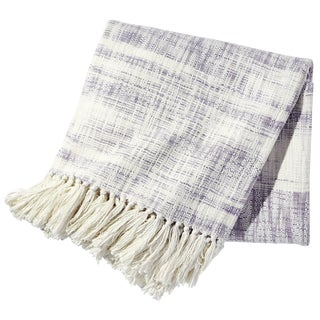 John Robshaw Lavender Space-Dyed Throw