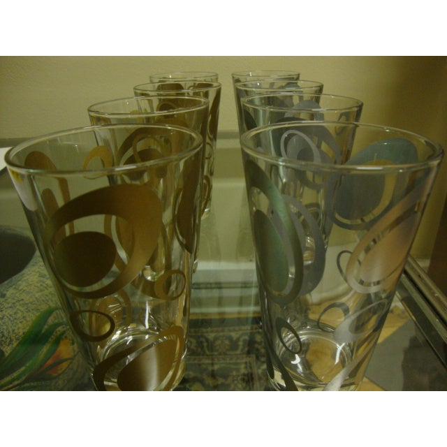 Mid-Century Italian Cerve Beer Glasses - Set of 8 - Image 2 of 8