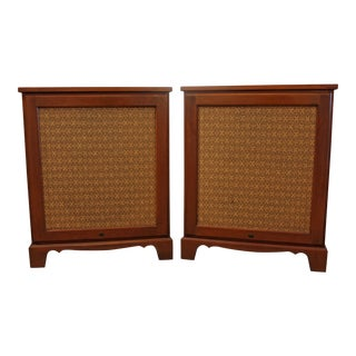 Mid-Century Danish Modern Bozak Colonial 302 Floor Speakers - a Pair