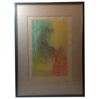 Lebadang 'Le Cheval' Intaglio Signed Etching