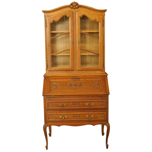 Image of Vintage 1950 French Secretary Desk