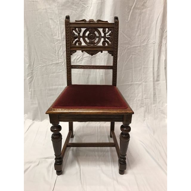 Victorian Dining Room Sets: Antique Victorian Dining Room Chairs - Set Of 4