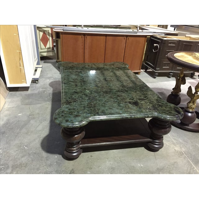 Mahogany Coffee Table With Granite Top - Image 4 of 4