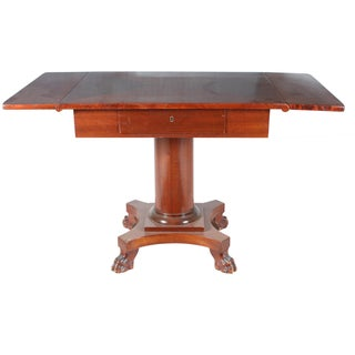 19th-C. English Drop-Leaf Mahogany Table
