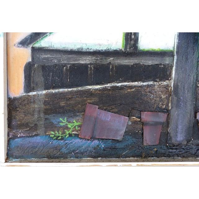 Robert Blanchard Mid-century Mixed Media Painting - Image 3 of 9