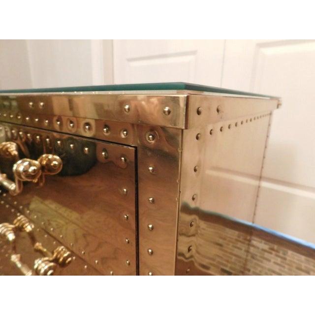Serreid LTD Vintage Brass Nightstand - Image 9 of 11