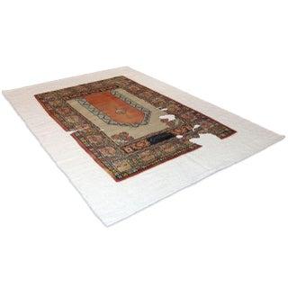 Sarreid LTD Wool & Linen Carpet - 6' x 9'