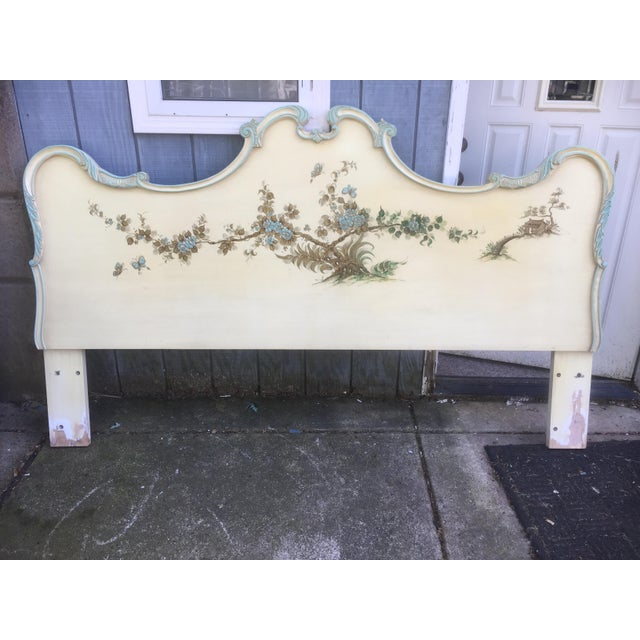 Asian Style Hand Painted King Headboard - Image 2 of 7