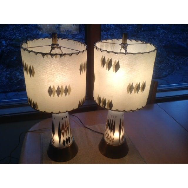 Image of Mid-Century Atomic Lamps - Pair