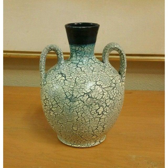 Image of Vintage Mexican Crackle Glaze Wedding Vase
