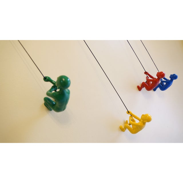 Multicolor Climbing Man Wall Art - 4 Pieces - Image 8 of 9