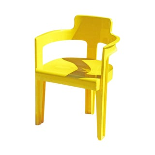 Vintage Mod Yellow Plastic Chair