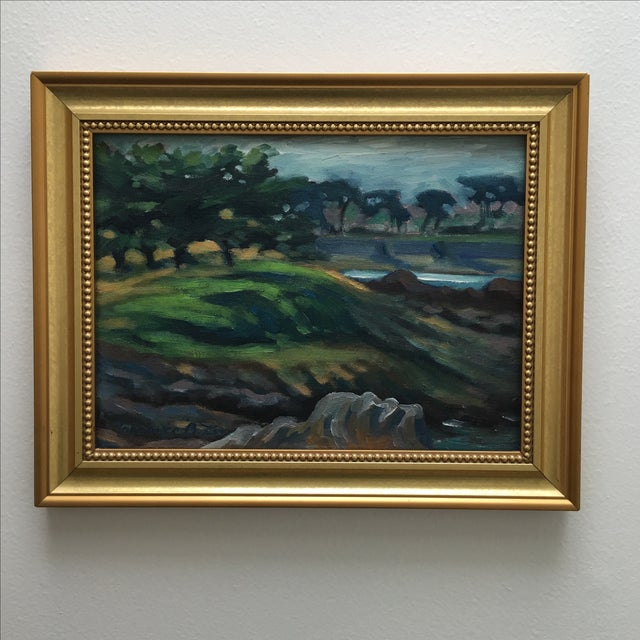 Abstract Seaside Landscape Painting Pacific Grove - Image 2 of 11