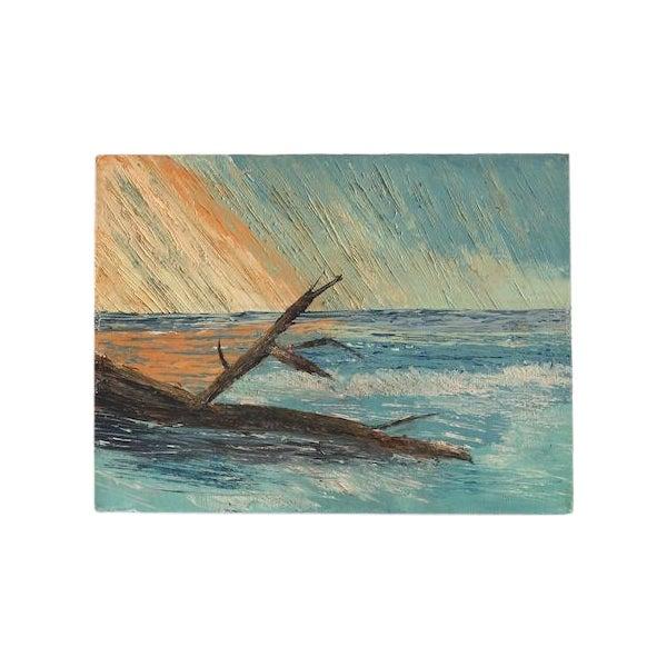 Vintage Seascape Painting - Image 1 of 5