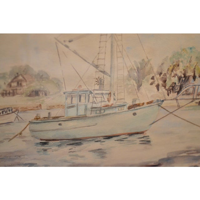 Image of Anna M. Smith Fishing Boats Watercolor Painting