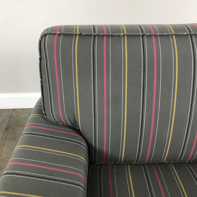 Colorful Striped Club Chair - Image 5 of 11