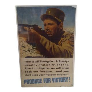 France Vintage WWII Victory Poster