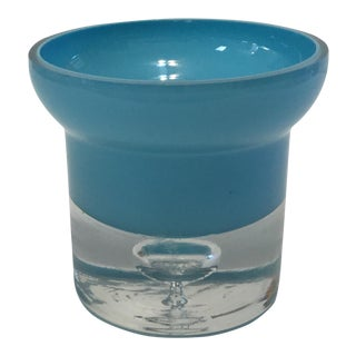 Aqua Art Glass Base