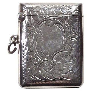 Antique 19th C. English Sterling Silver Match Safe