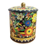 Image of Boho English Colorful Tin Container