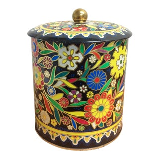 Boho English Colorful Tin Container