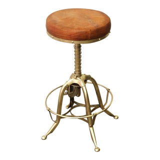 Industrial Leather Seat Toledo Counter Stool
