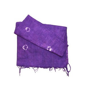 Violet Purple Mud Cloth Textile