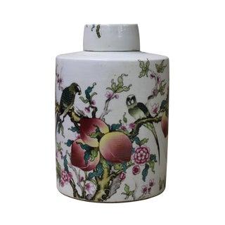 Chinese Graphic Ceramic Container