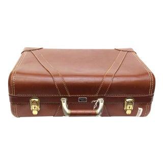 Platt Vintage Brown Suitcase