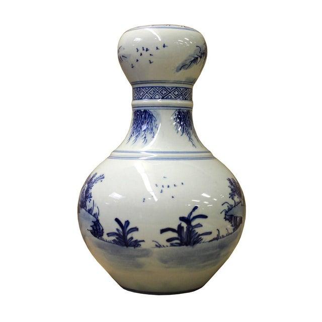"Chinese Suantouping Blue & White Porcelain ""Garlic-mouth"" Vase - Image 4 of 7"
