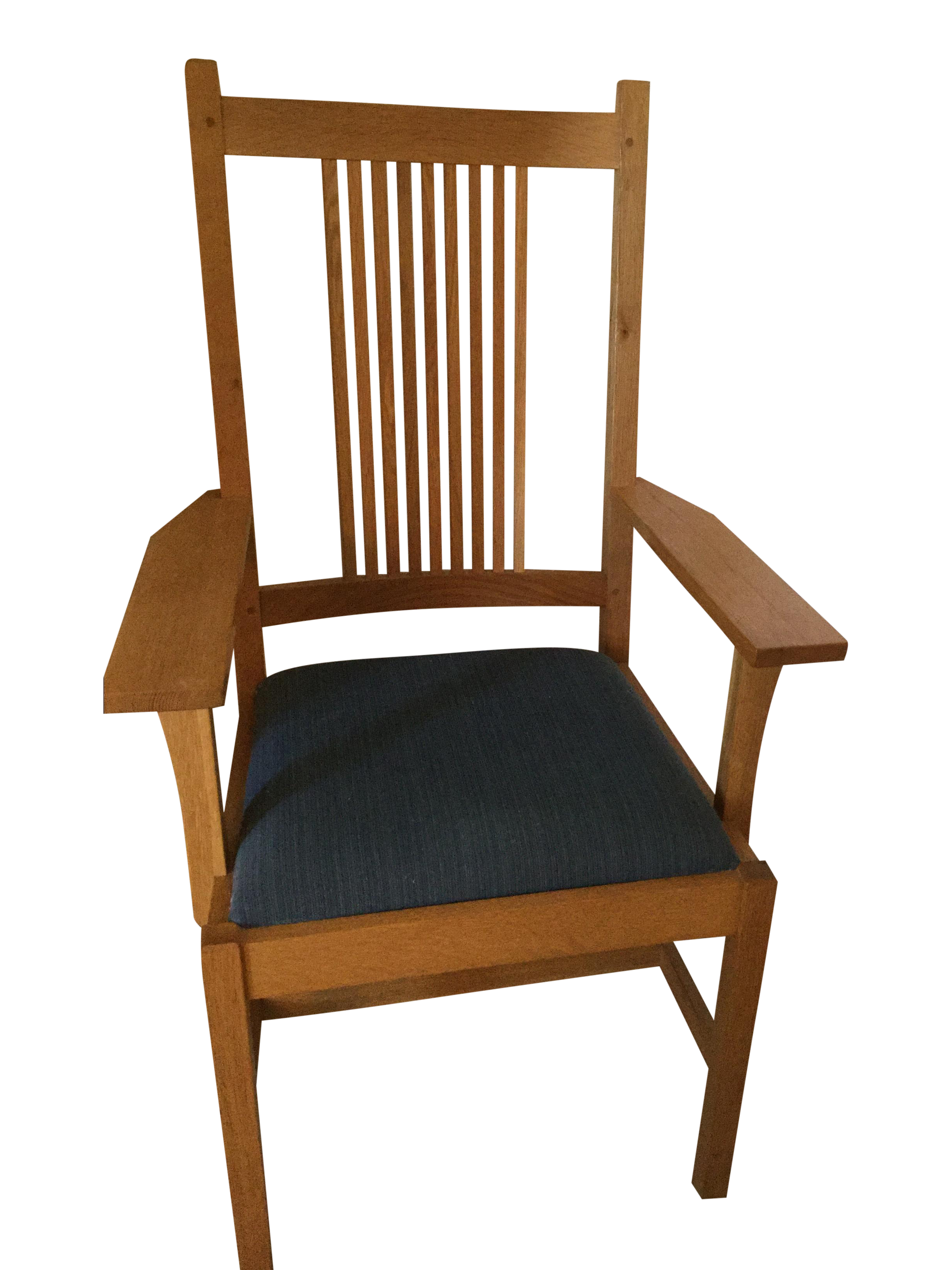 Stickley Mission Style Oak Arm Chair : Chairish