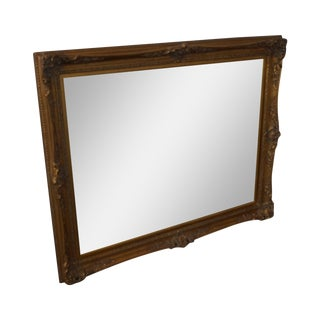 French Louis XV Style Rectangular Gilt Framed Wall Mirror