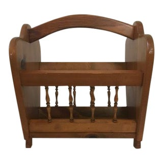 Vintage Wooden Magazine Rack