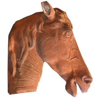Italian Terra Cotta Horse Head