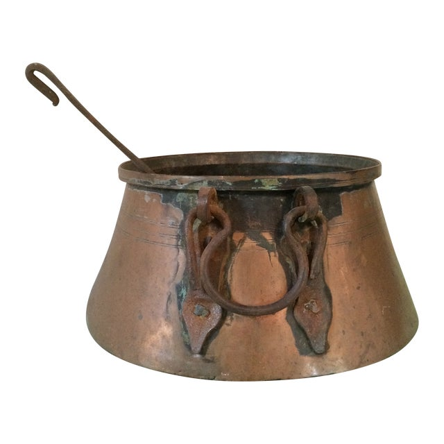 Copper Stew Pot with Ladel - Image 1 of 11