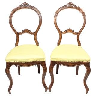 Victorian Rococo Salon Chairs - A Pair
