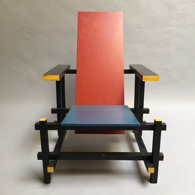 The Red and Blue Chair by Gerrit Rietveld - Image 4 of 5
