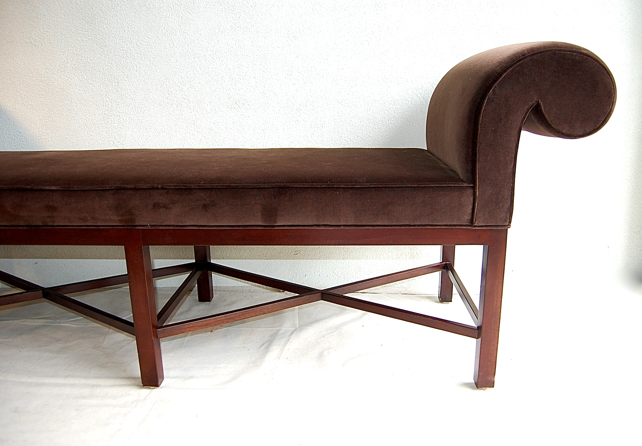 Scroll Bench Part - 30: Thomas Pheasant For Baker Scroll Arm Bench - Image 5 Of 10
