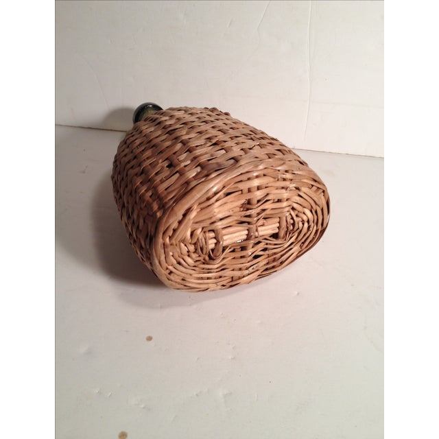 French Wicker-Wrapped Wine Bottle - Image 5 of 5