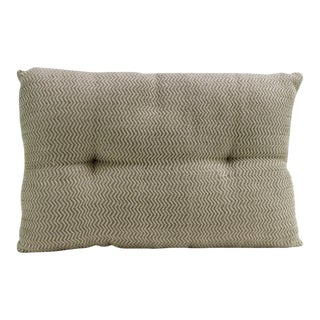 Light Brown Zig-Zag Handloom Pillow