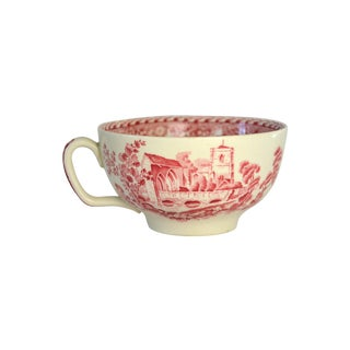 Vintage English Toile Grand Tea Cup