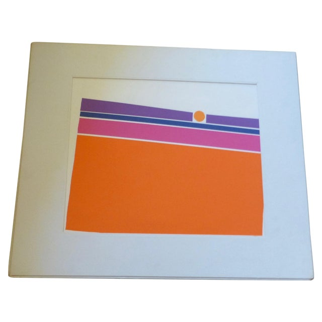 """Orange Landscape"" a Mod Print by Calvin Libby - Image 1 of 8"