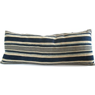 Indigo Striped Pillow No. 2