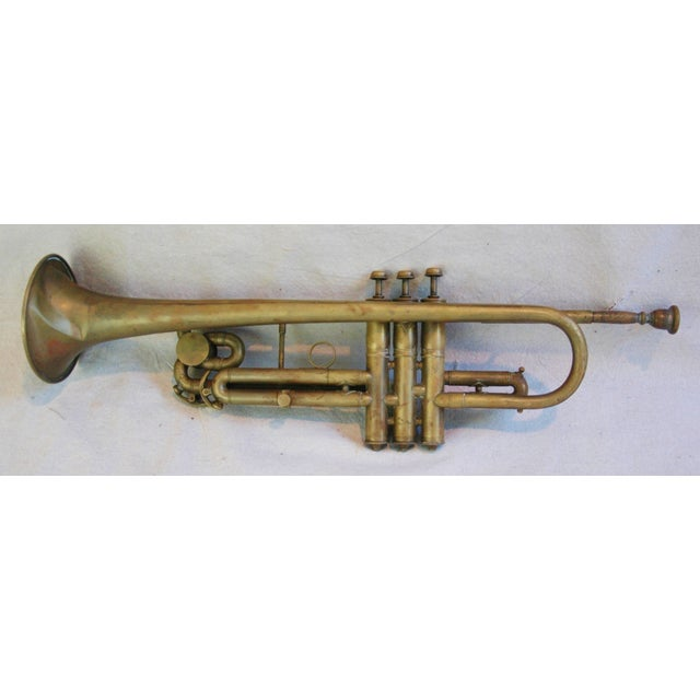 Antique Brass Trumpet Horn - Image 6 of 8