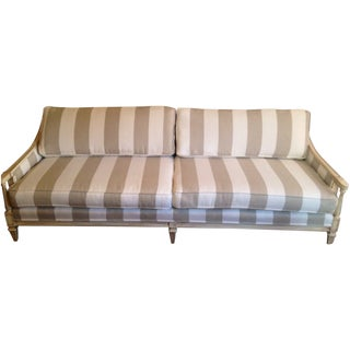 Vintage Striped Sofa