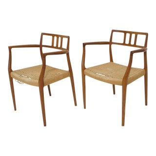 Niels Moller Model 64 Danish Modern Chairs - A Pair