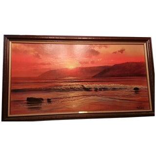 Framed Sunset Glow Print by Violet Parkhurst
